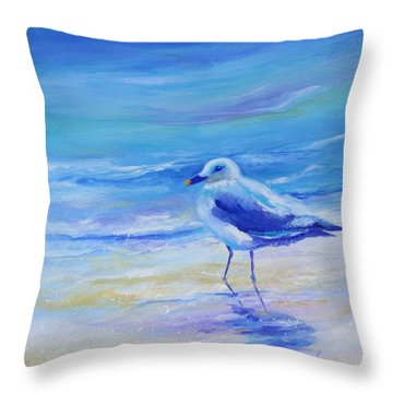 Carolina Gull Throw Pillow