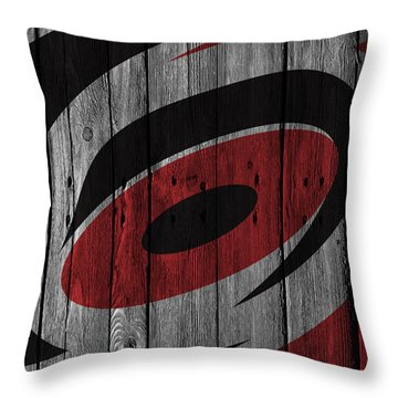 Carolina Hurricanes Wood Fence Throw Pillow