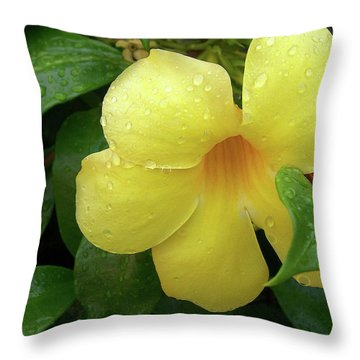 Carolina Jasmine Throw Pillow by Larry Bishop