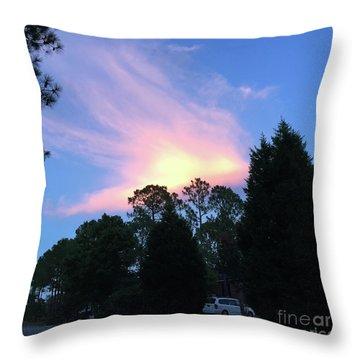 Carolina Summer Sky Throw Pillow