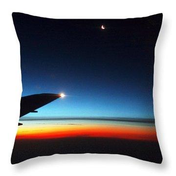 Carolina Sunrise Throw Pillow