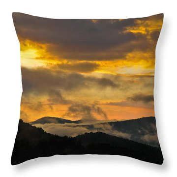 Carolina Sunset Throw Pillow
