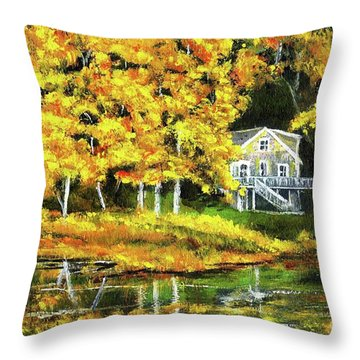 Carol's House Throw Pillow by Randy Sprout