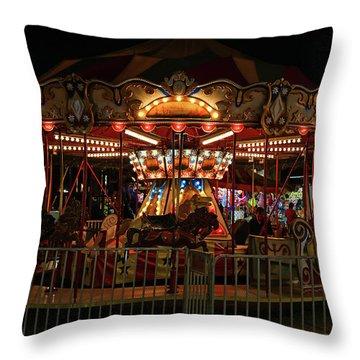Carousel At Night 2017 2 Throw Pillow