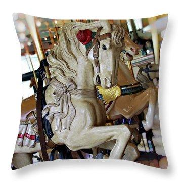 Carousel Belle Throw Pillow by Melanie Alexandra Price