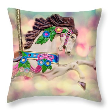Carousel Bubbles Throw Pillow