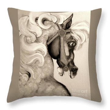 Carousel Throw Pillow by Carolyn Weltman