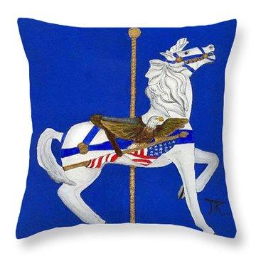 Carousel Horse #1 Throw Pillow