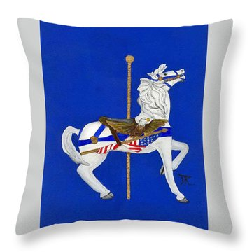 Carousel Horse #1 Throw Pillow