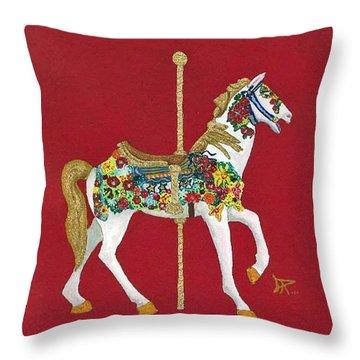 Carousel Horse #2 Throw Pillow