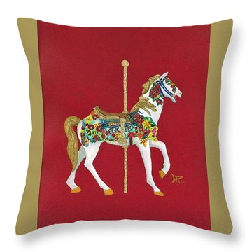 Carousel Horse #2 Throw Pillow