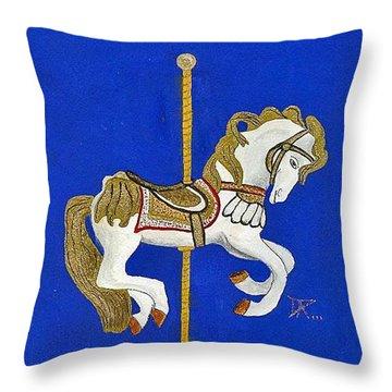 Carousel Horse #3 Throw Pillow