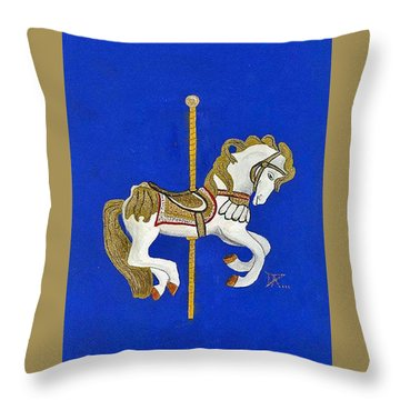 Carousel Horse #3 Throw Pillow