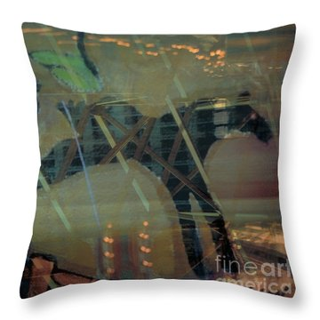 carousel horse fantasy art - Stop the World I Wanna Get Off Throw Pillow