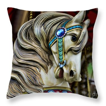 Carousel Horse  Throw Pillow by Paul Ward