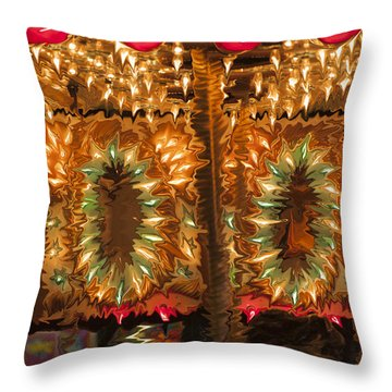 Carousel Throw Pillow by Linda Constant