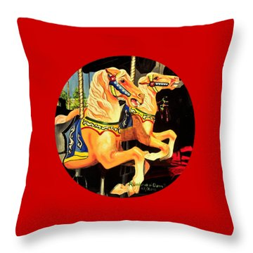 Carousel Palominos Throw Pillow by Ruanna Sion Shadd a'Dann'l Yoder