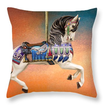 Carousel Sunset Throw Pillow