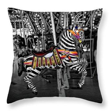 Carousel Zebra Series 2222 Throw Pillow