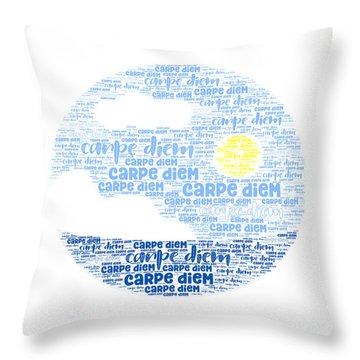 Carpe Aestatem Throw Pillow