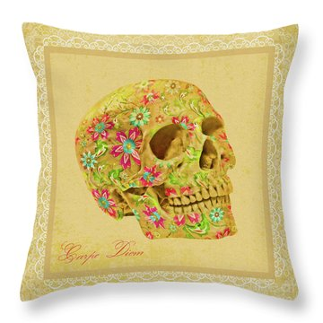 Carpe Diem Throw Pillow by Olga Hamilton