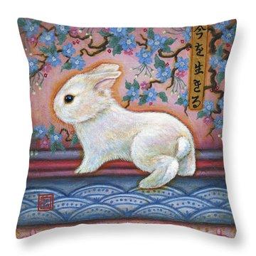 Carpe Diem Rabbit Throw Pillow