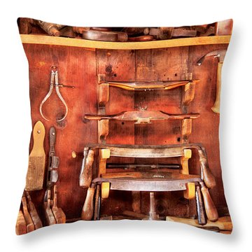 Carpenter - Spoke Shaves Throw Pillow by Mike Savad