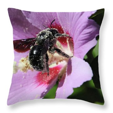 Throw Pillow featuring the photograph Carpenter Dance by Rasma Bertz