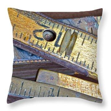Carpenter's Rule Throw Pillow