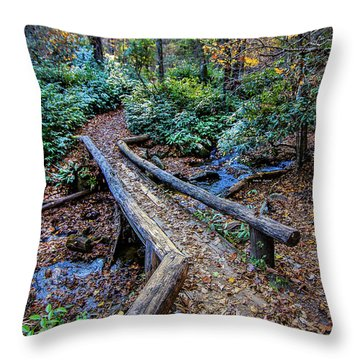 Carpet Of Leaves Throw Pillow by Dale R Carlson