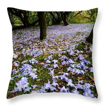 Carpet Of Petals Throw Pillow