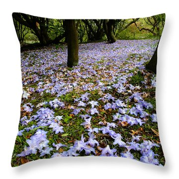 Carpet Of Petals Throw Pillow