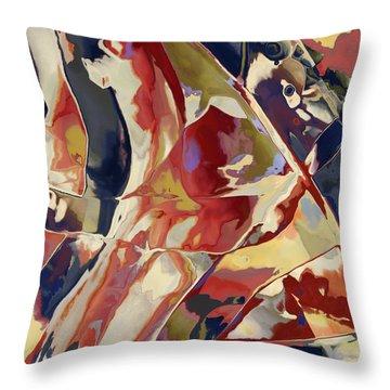 Throw Pillow featuring the digital art Carpet Ruffles by Constance Krejci