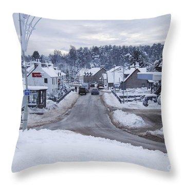 Carrbridge - Mid Winter Throw Pillow