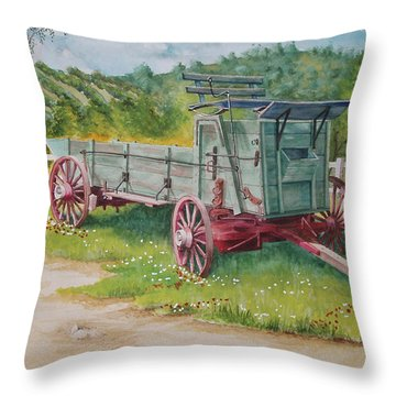 Carriage  Throw Pillow by Charles Hetenyi