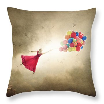 Carried Away Throw Pillow by Greg Collins