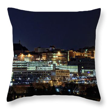 Carrier Dome And Syracuse Skyline Panoramic View Throw Pillow