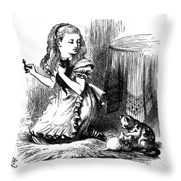 Carroll: Looking Glass Throw Pillow by Granger