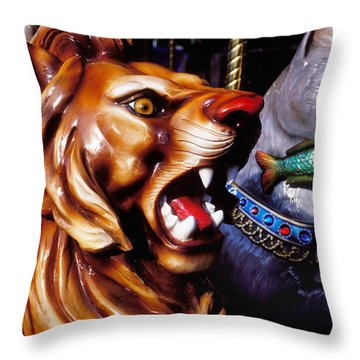 Carrosul Ride Throw Pillow by Garry Gay