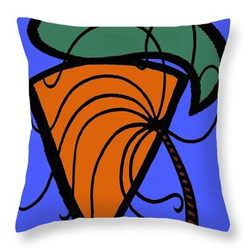 Carrot And Stick Throw Pillow by Patrick J Murphy