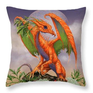 Carrot Dragon Throw Pillow
