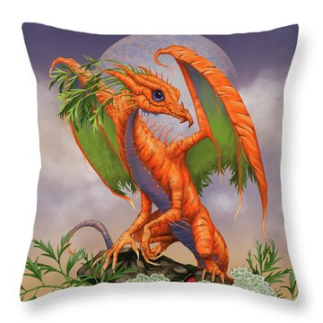 Throw Pillow featuring the digital art Carrot Dragon by Stanley Morrison