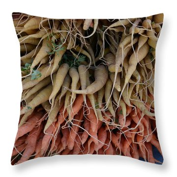 Carrots And Turnips Throw Pillow
