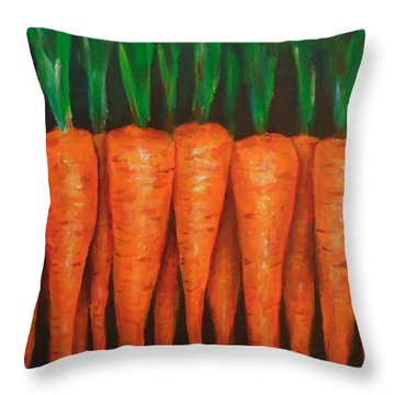 Carrots Throw Pillow