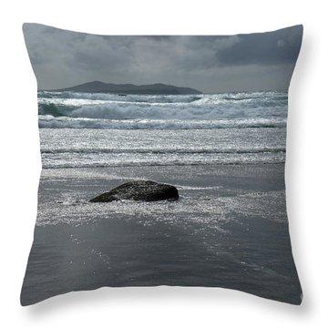 Carrowniskey Beach Throw Pillow