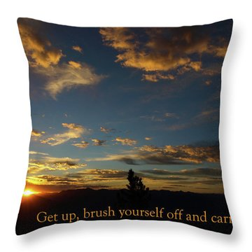 Carry On Sunrise Throw Pillow by DeeLon Merritt