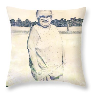 Carrying Eggs Throw Pillow by Brian Wallace