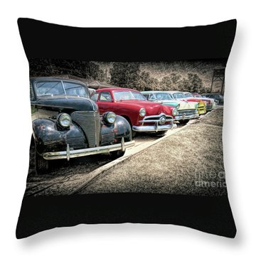 Cars For Sale Throw Pillow by Marion Johnson
