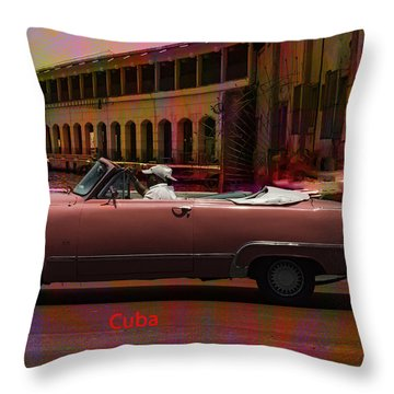 Cars Of Cuba Throw Pillow by Will Burlingham