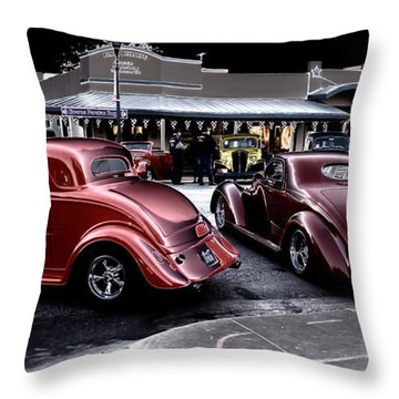 Cars On The Strip Throw Pillow
